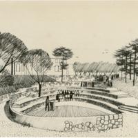 Blake Estate: Long Range Development Plan, amphitheater sketch
