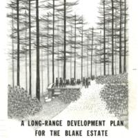 Blake Estate: Long Range Development Plan, Report cover