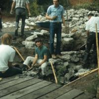 Blake Garden, Retaining Walls