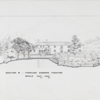 Blake Estate: Long Range Development Plan, Section B - through garden theatre