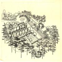 Blake Estate: Long Range Development Plan, Axonometric Landscape sketch
