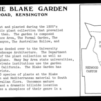 "Blake Garden: ""Plants of the Blake Garden"", Maps of the Blake Garden"