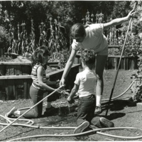 Blake Garden: Children's Adventure Garden: students teaching